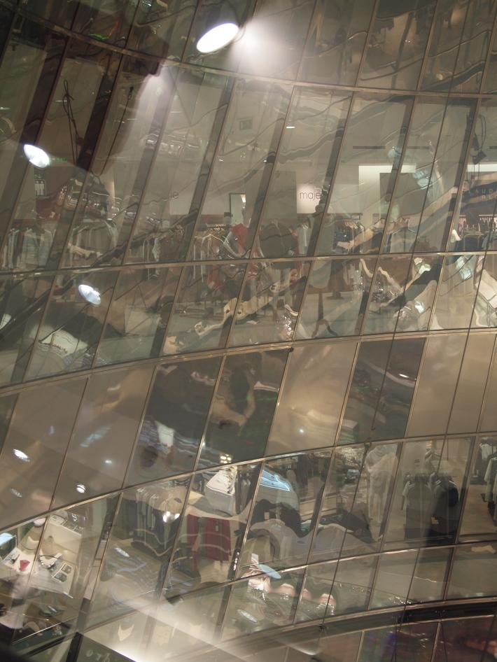Galeries Lafayette Cone Glass